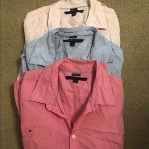 Set of 4 Tommy Hilfiger classic fit button downs M